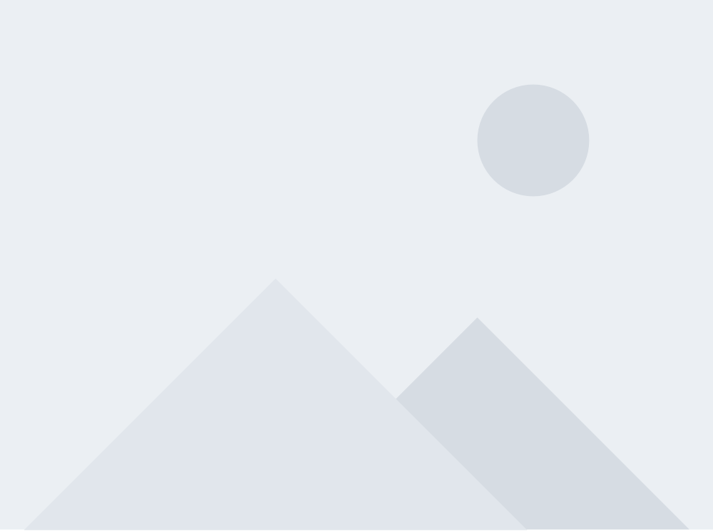 Stock placeholder image with grayscale geometrical mountain landscape teste